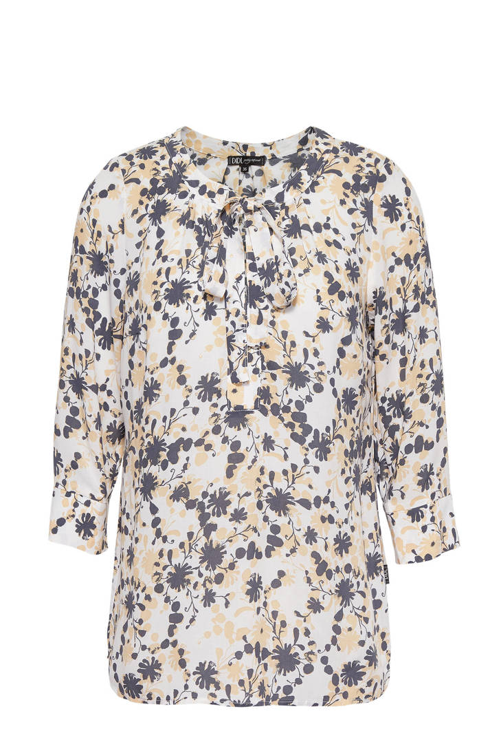 Didi met en print strik over all blouse ArawxqtA