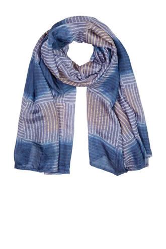 gestreepte zijde sjaal