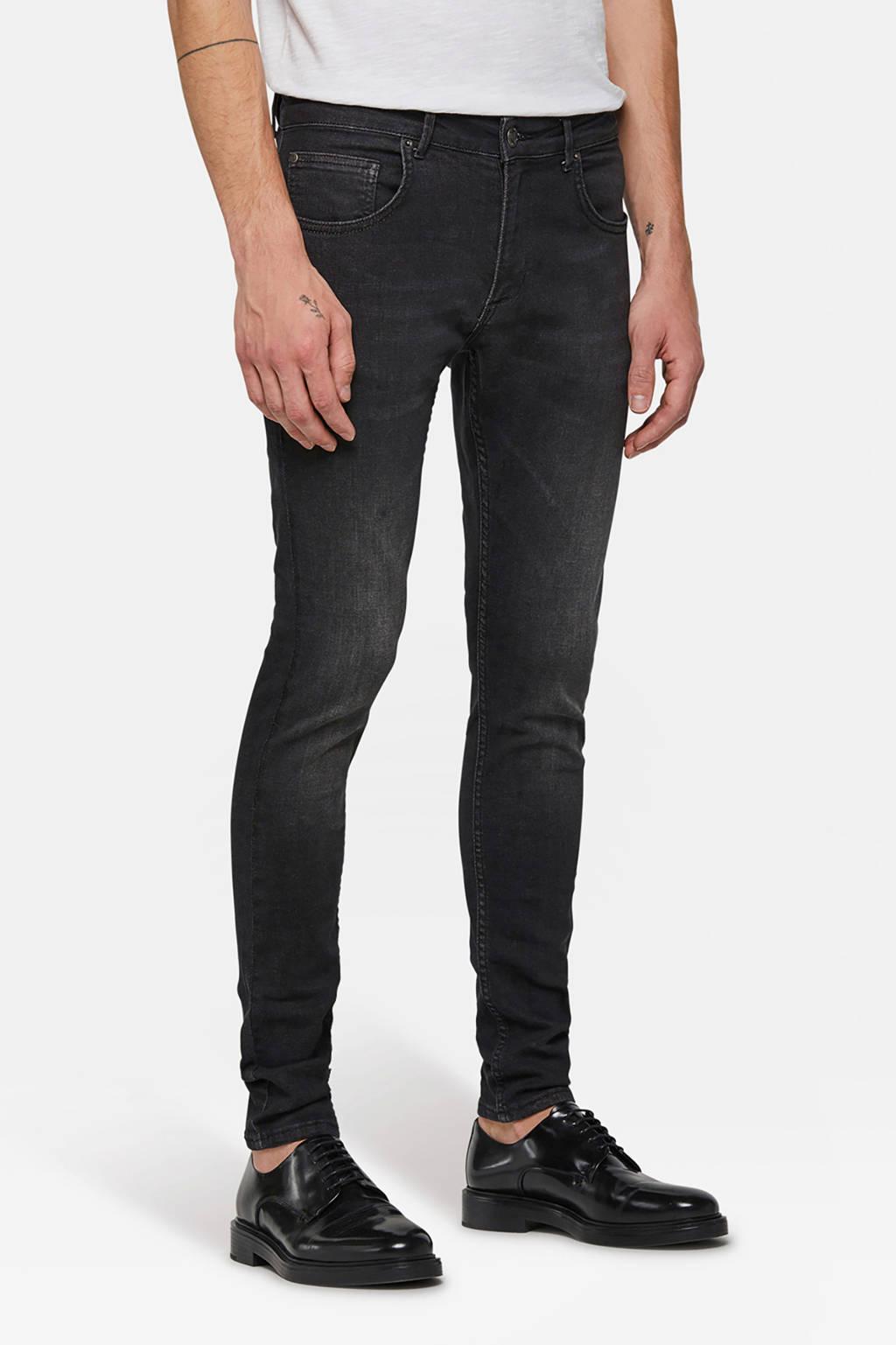 WE Fashion Blue Ridge skinny jeans Dex Skeeter, Black denim