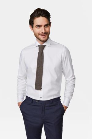 slim fit overhemd wit