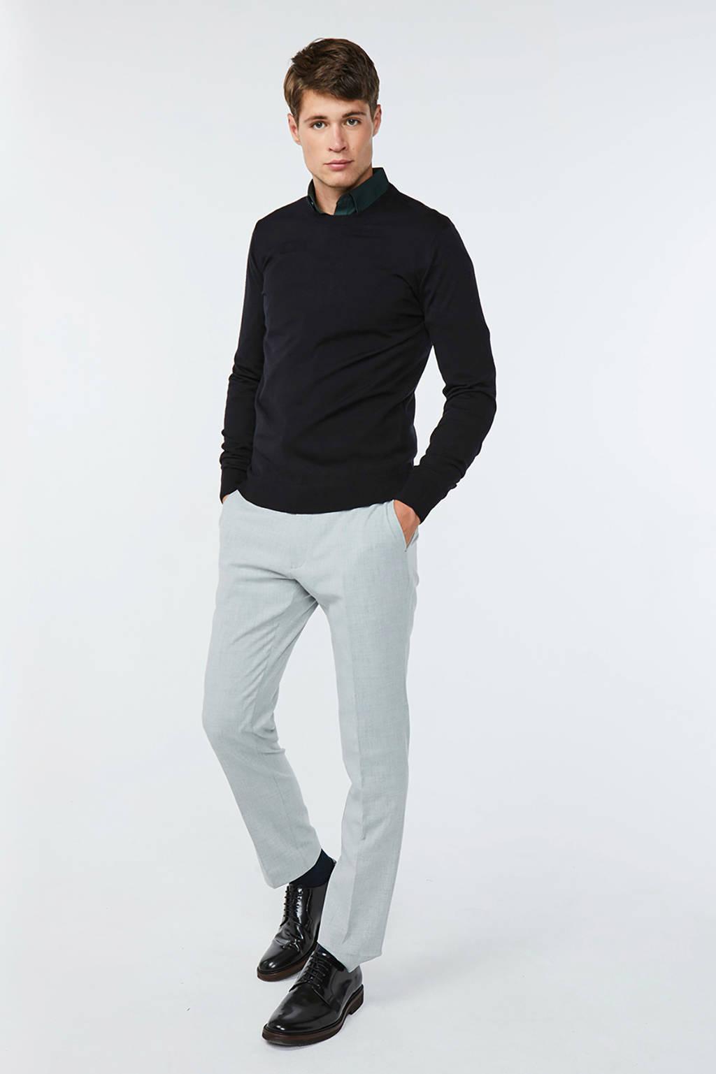 WE Fashion gemêleerde wollen trui zwart, Zwart