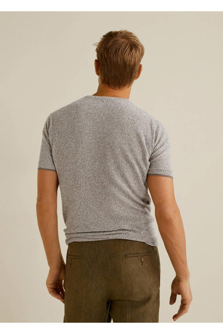 gebreide Mango in katoenblend shirt Man T een TTg47zqXw