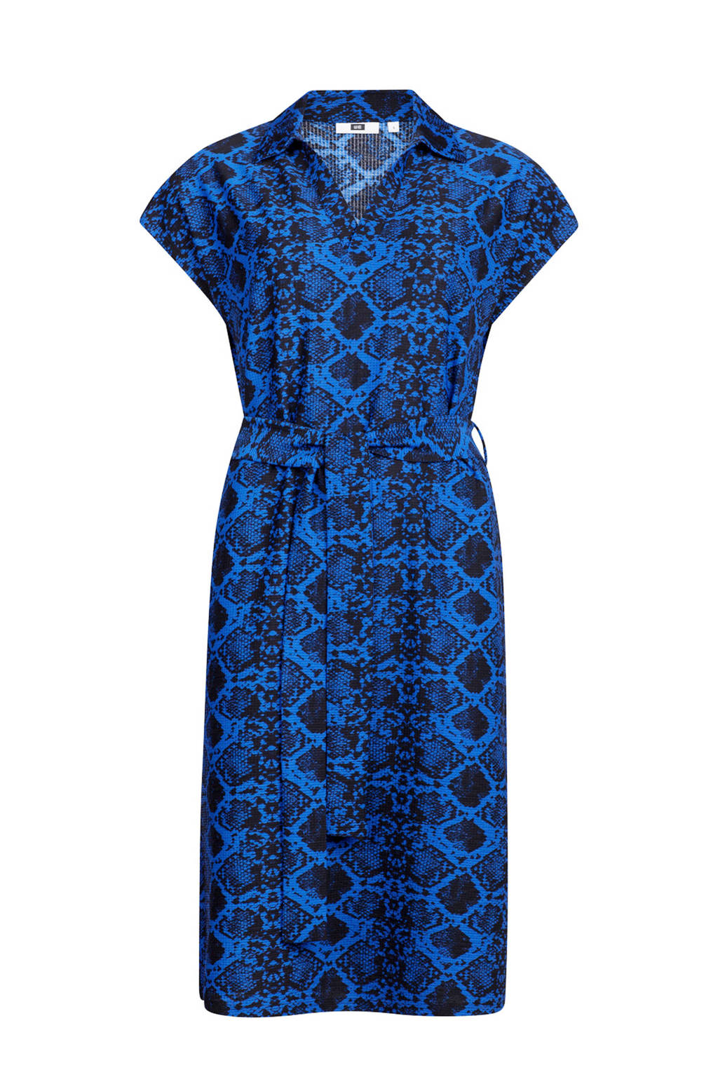 WE Fashion jurk met slangenprint koningsblauw, Koningsblauw