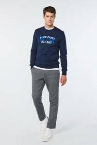 WE Fashion Blue Ridge sweater met tekst marine, Marine