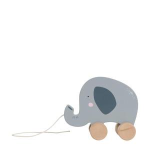 houten olifant trekfiguur