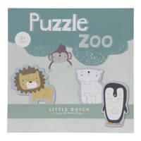 Little Dutch dieren 6 stuks  legpuzzel 24 stukjes