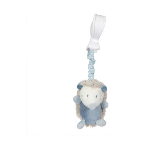 Tiamo trilfiguur egel 26 cm blauw grijs