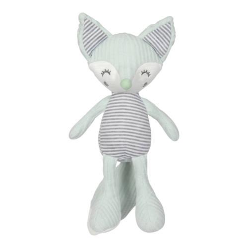 Tiamo knuffel Foxy Fox 30 cm mintgroen grijs