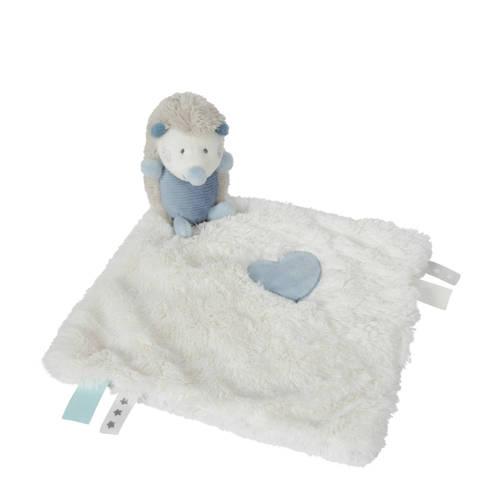 Tiamo knuffeldoekje egel 28 cm blauw wit