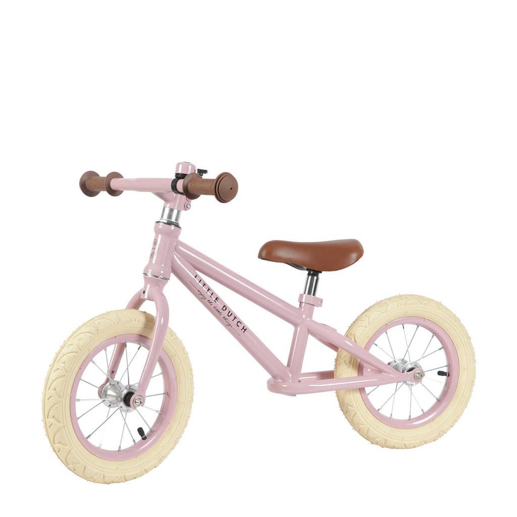 Little Dutch loopfiets 12 inch roze, Roze