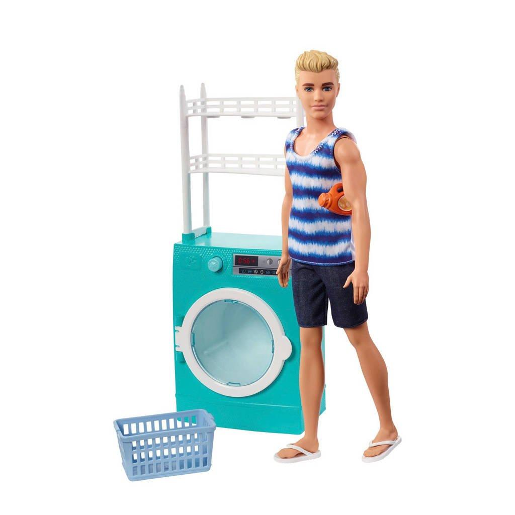 Barbie Ken doet de was