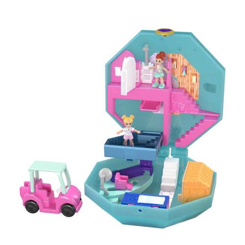 Mattel speelset Polly Pocket Spa 11 cm blauw