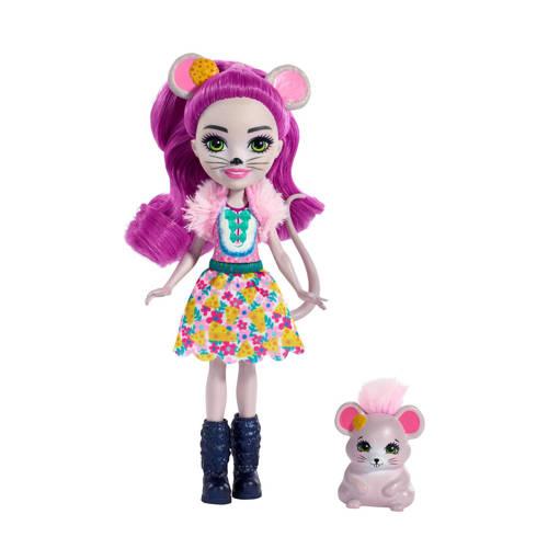 Mattel Enchantimals tienerpop Mayla mouse & Fondue 15 cm