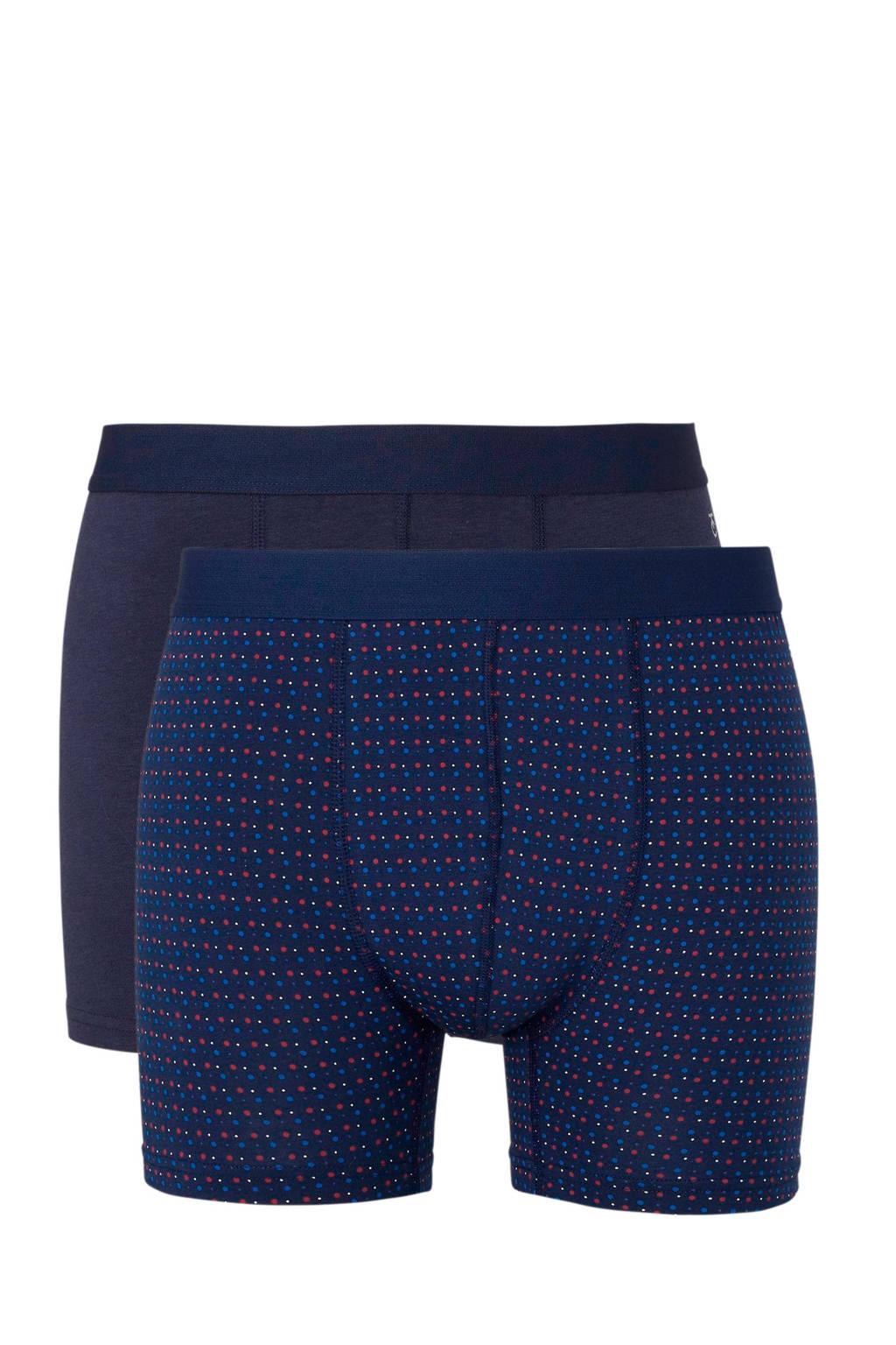 ten Cate boxershort (set van 2) blauw, Blauw/rood/wit