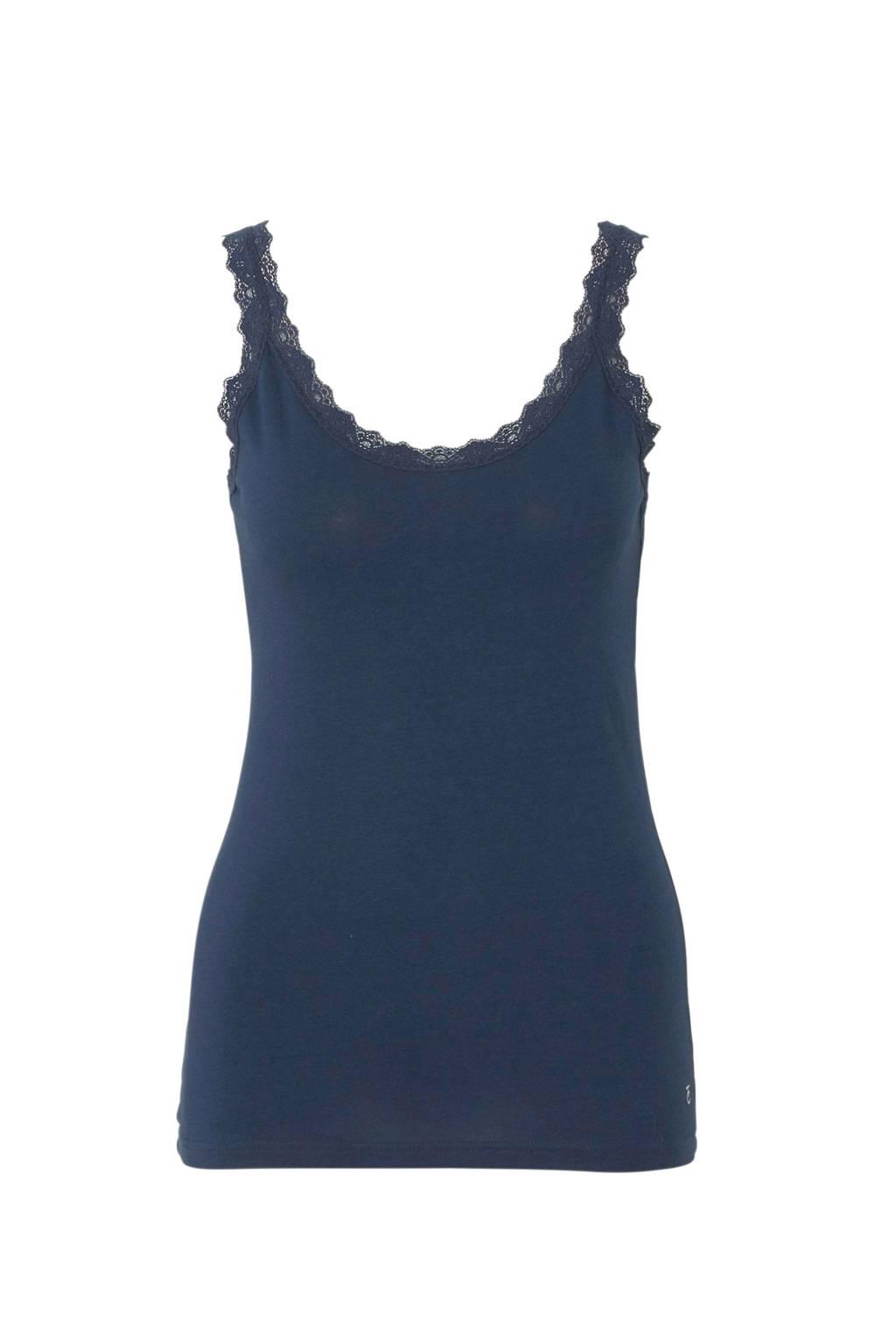 ten Cate hemd met kant blauw, Blauw