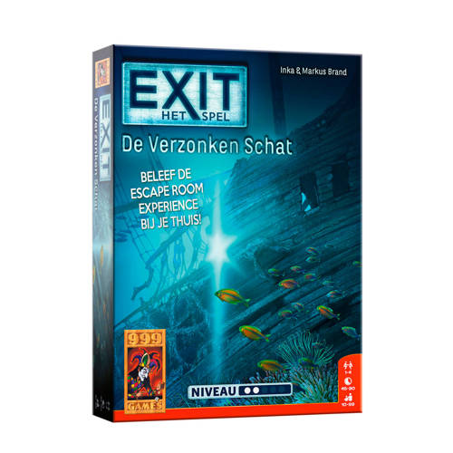 999 Games EXIT - De Verzonken Schat bordspel kopen