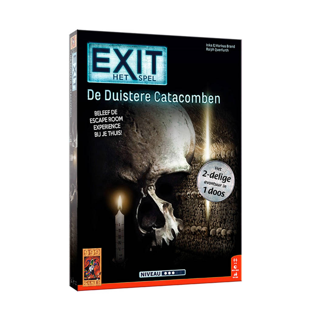 999 Games EXIT - De Duistere Catacomben bordspel