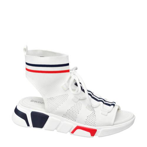 Graceland sock sandalen wit kopen