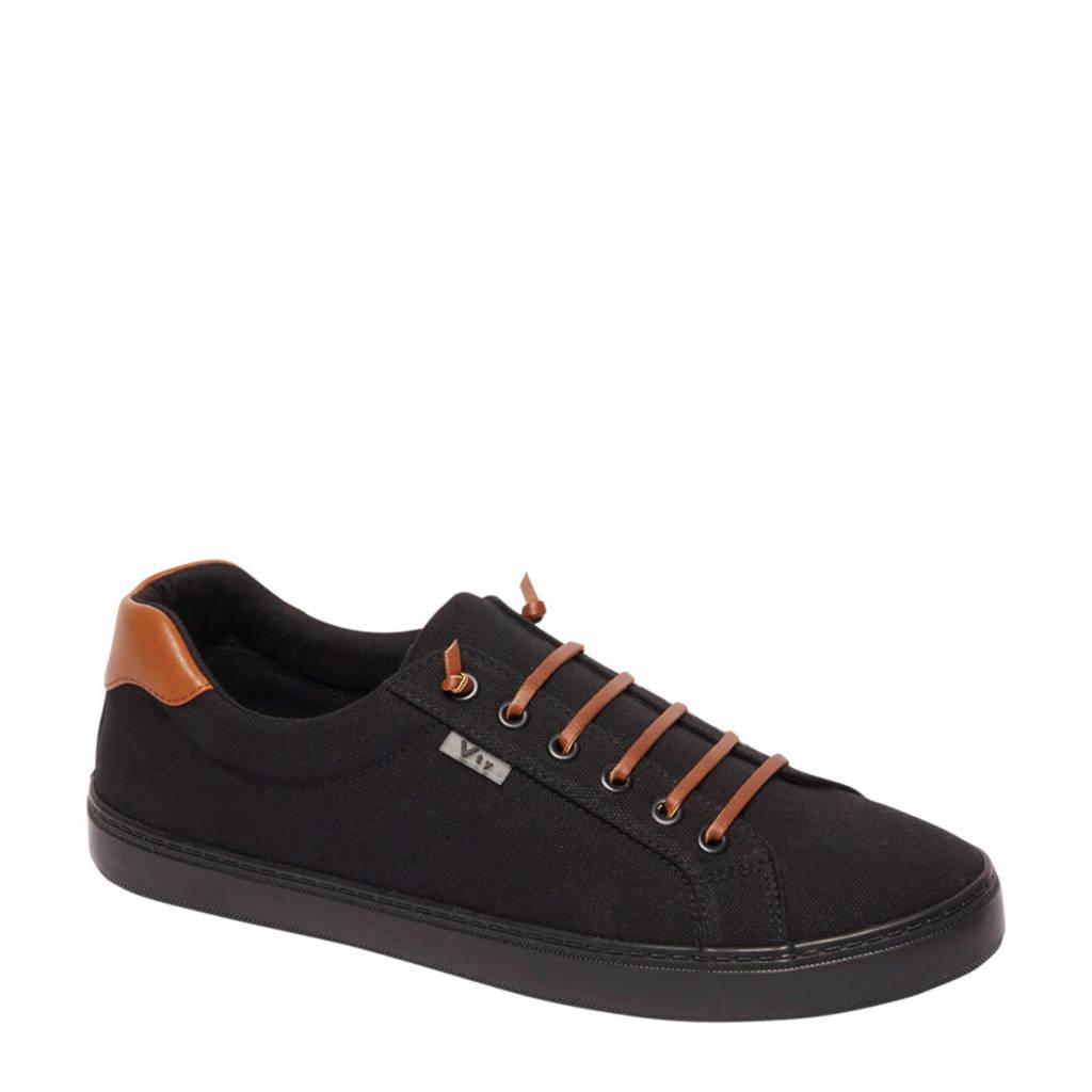 Vty   sneakers zwart/bruin, Zwart