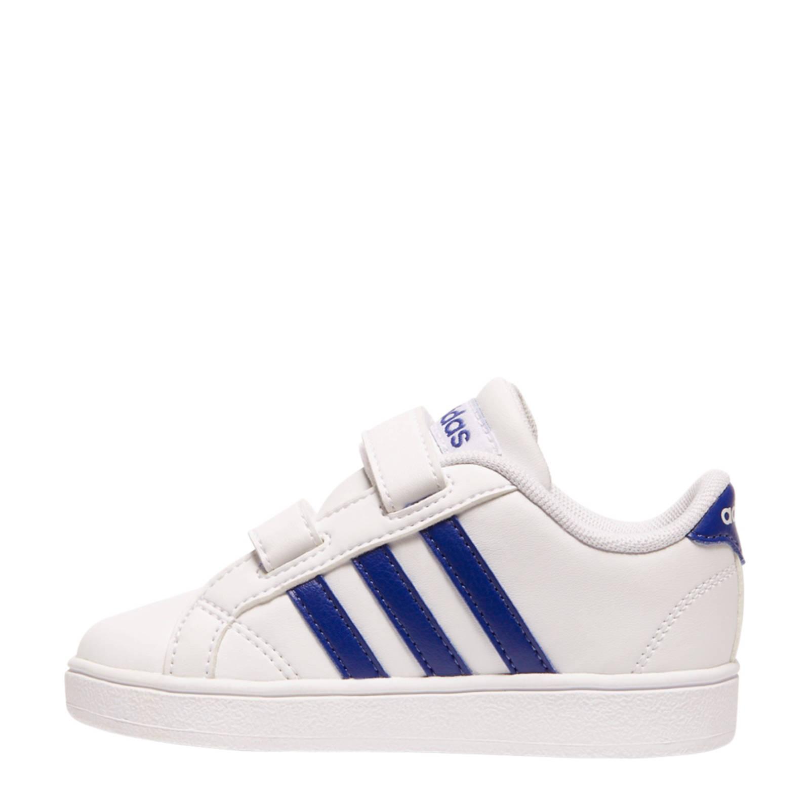 ec6753b4fe6 adidas Baseline 1 sneakers wit/blauw | wehkamp