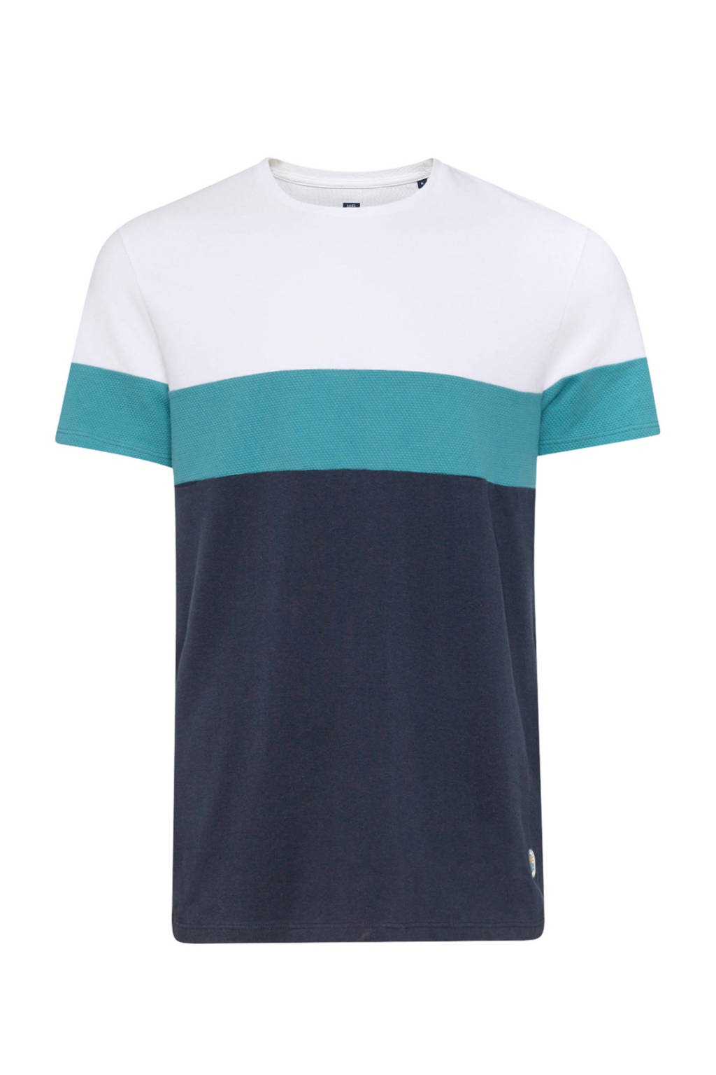 WE Fashion regular fit T-shirt, Donkerblauw