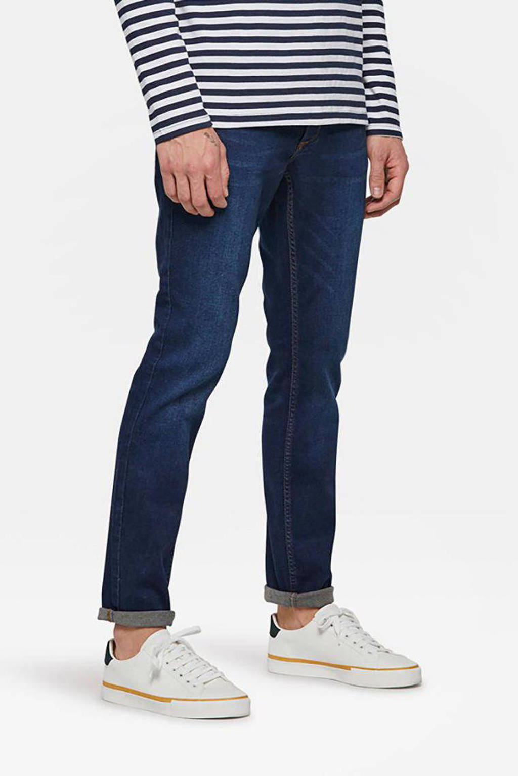 WE Fashion Blue Ridge slim fit tapered jeans Dex Sloane, Dark denim