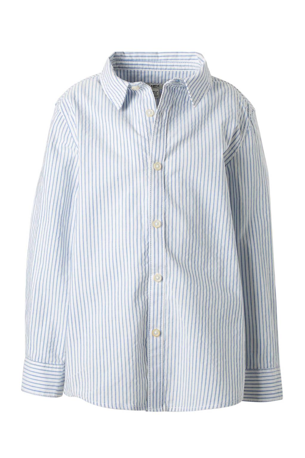 Gestreept Overhemd.Mango Kids Gestreept Overhemd Wit Wehkamp