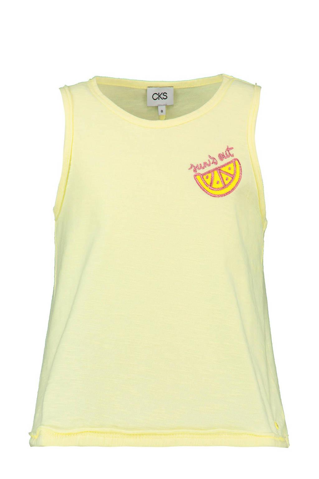CKS KIDS singlet Lotus met citroen geel, Geel