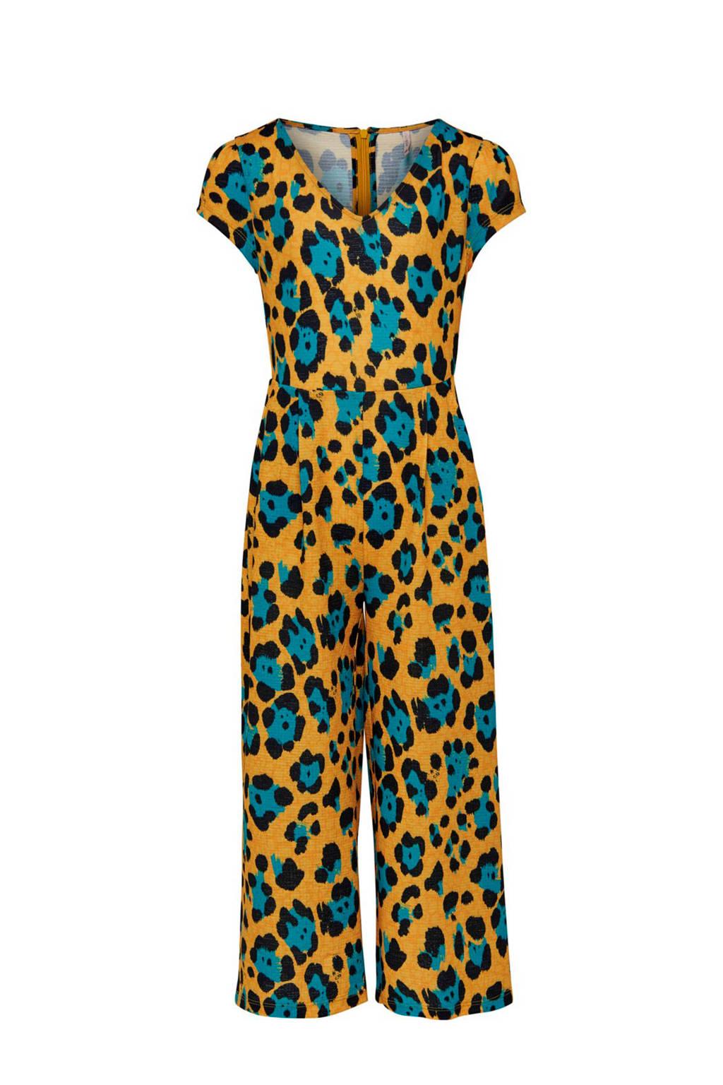 KIDSONLY jumpsuit Julia oker/turquoise/zwart, Oker/turquoise/zwart