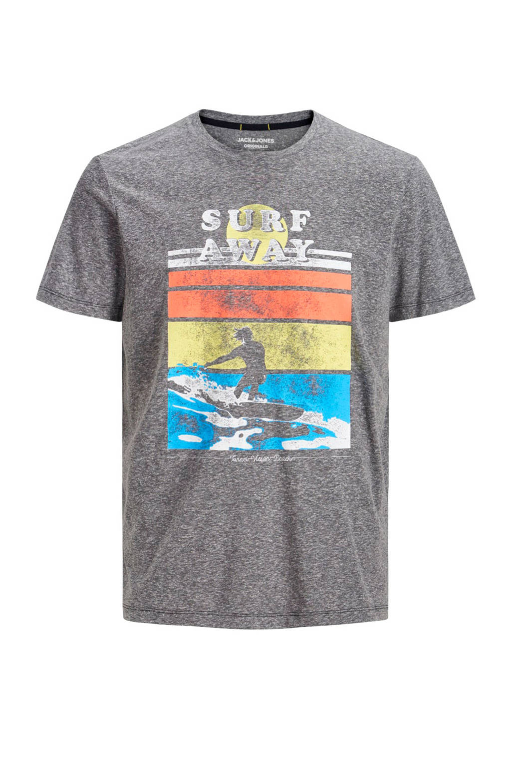Jack & Jones Junior T-shirt Laguna grijs melange, Grijs melange