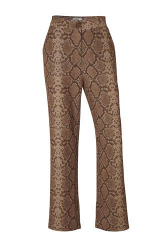 x Anna Nooshin pantalon met slangenprint bruin