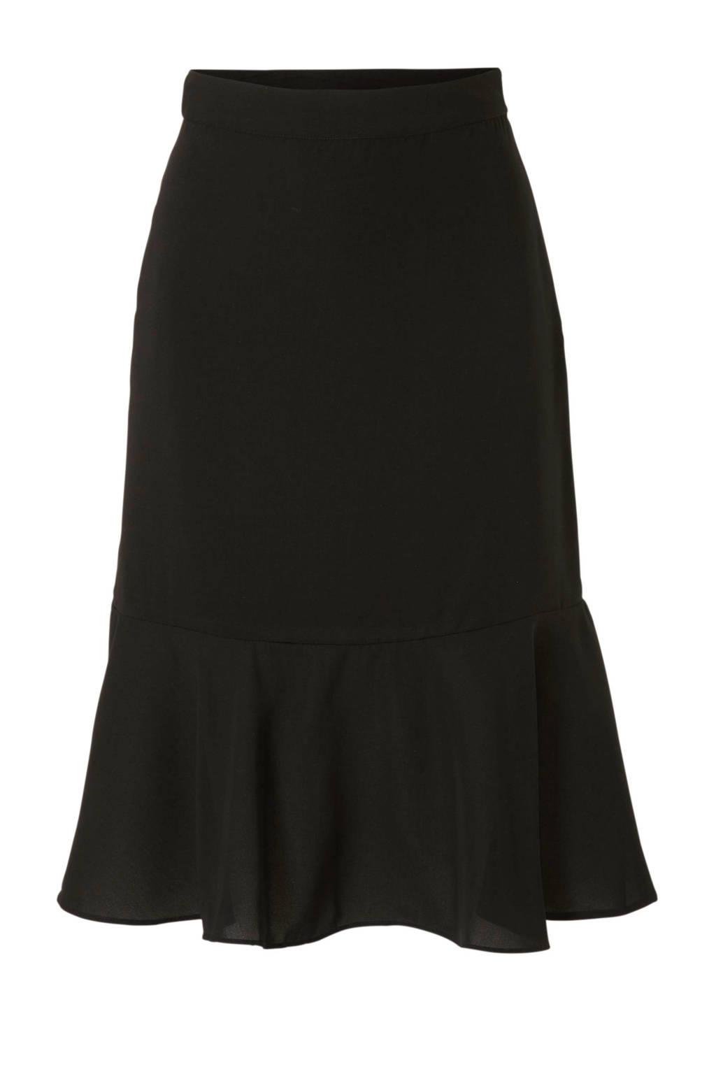 NA-KD x Anna Nooshin rok met volant zwart, Zwart
