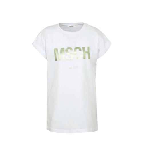 MSCH Copenhagen T-shirt met tekst wit