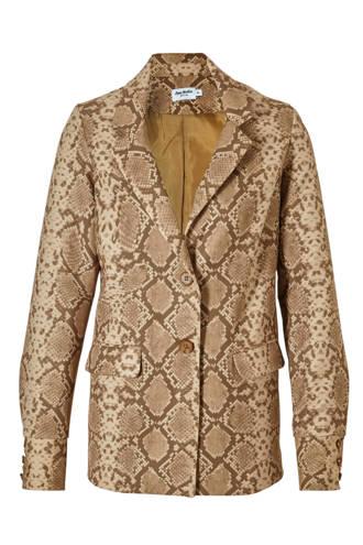 x Anna Nooshin blazer met slangenprint bruin