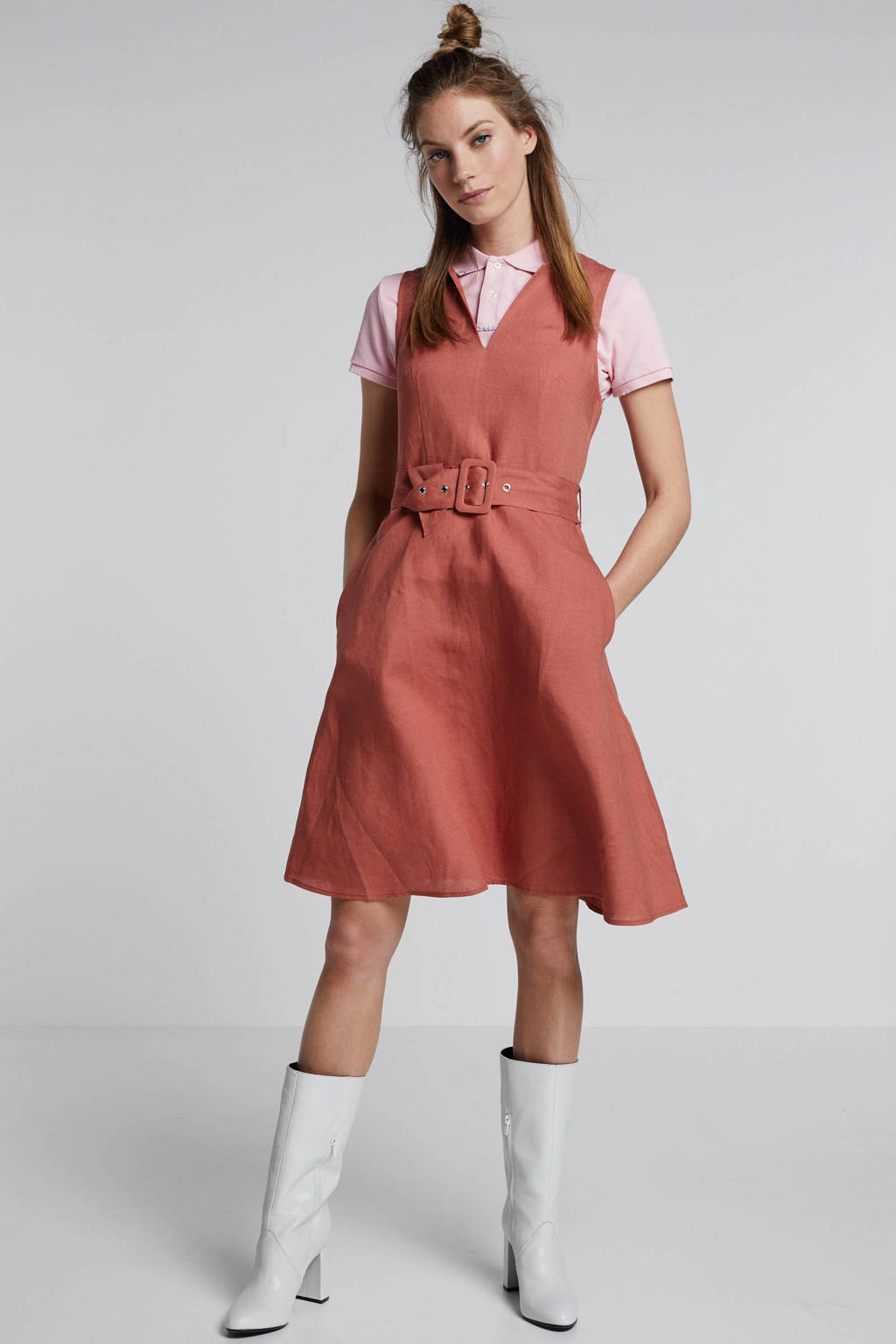 mint&berry jurk roodbruin, Roodbruin