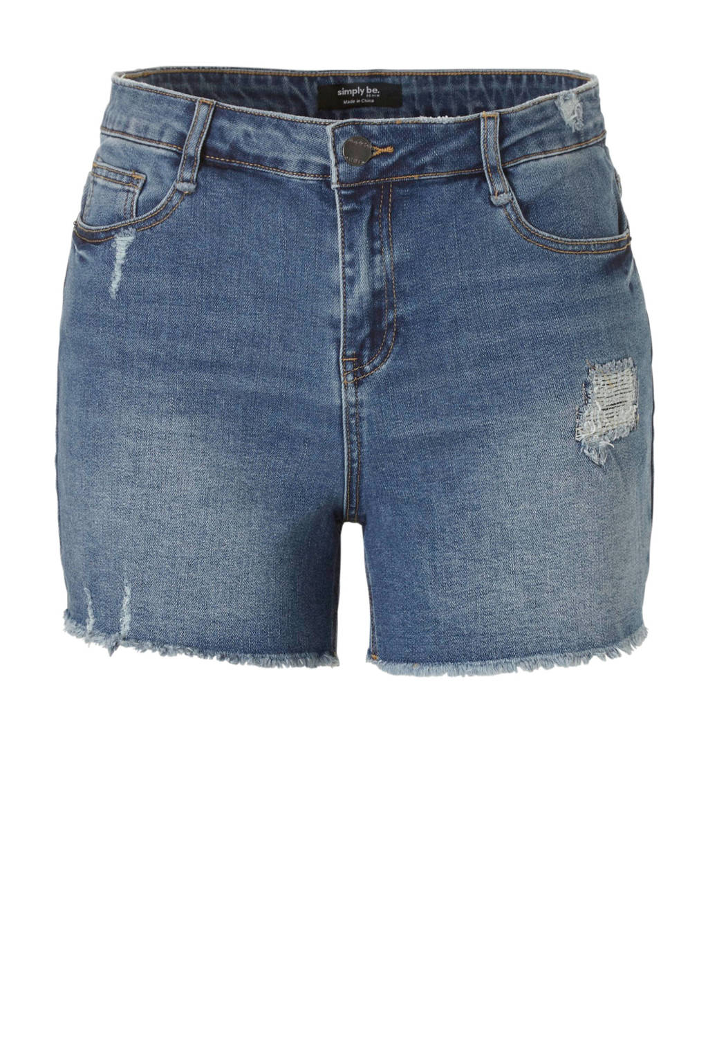 Simply Be jeans short blauw, Blauw