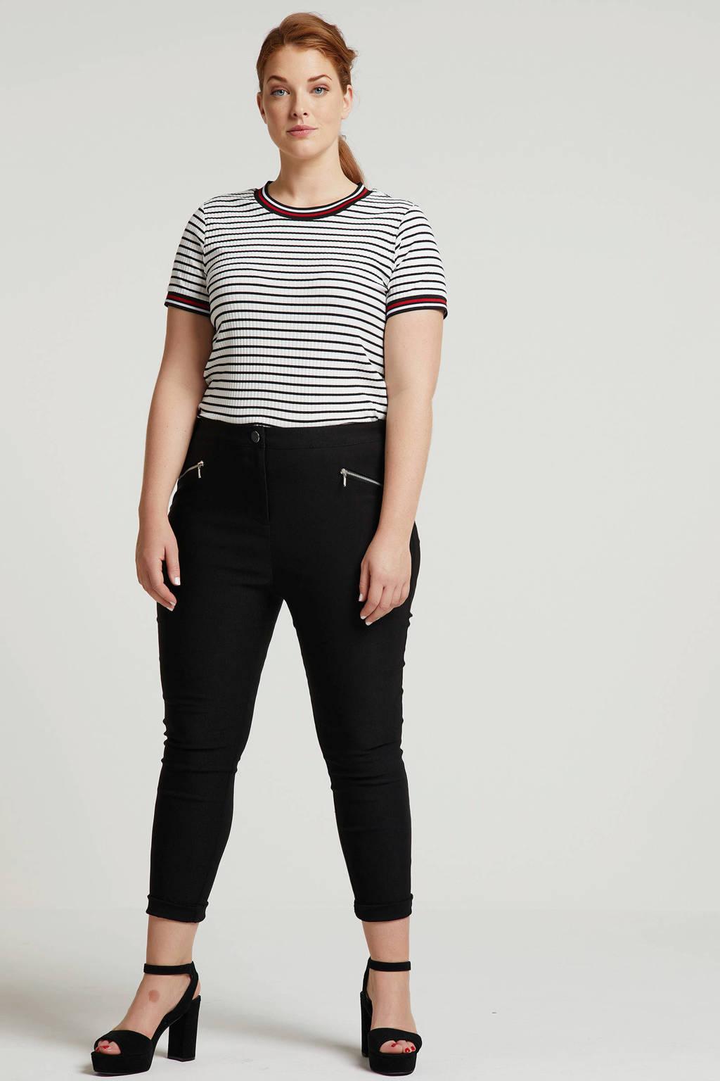 Capsule skinny fit broek zwart, Zwart