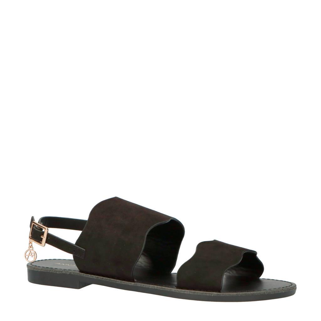 Anna Field Mandala sandalen zwart, Zwart