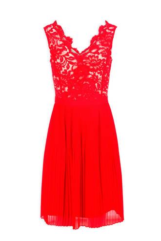 jurk met kant rood