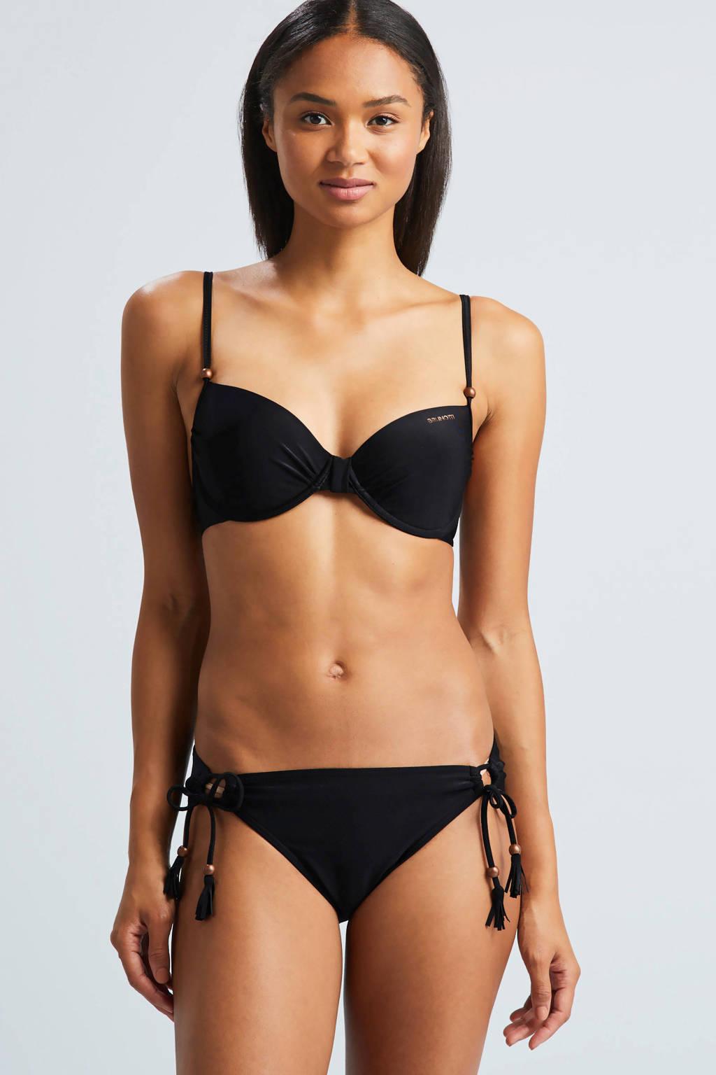 Brunotti beugel bikinitop uni zwart, Zwart