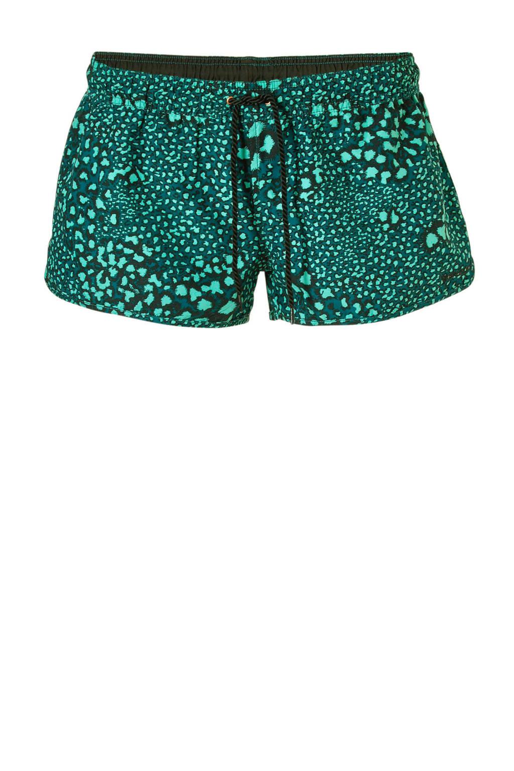Brunotti zwemshort met all over print groen, Groen
