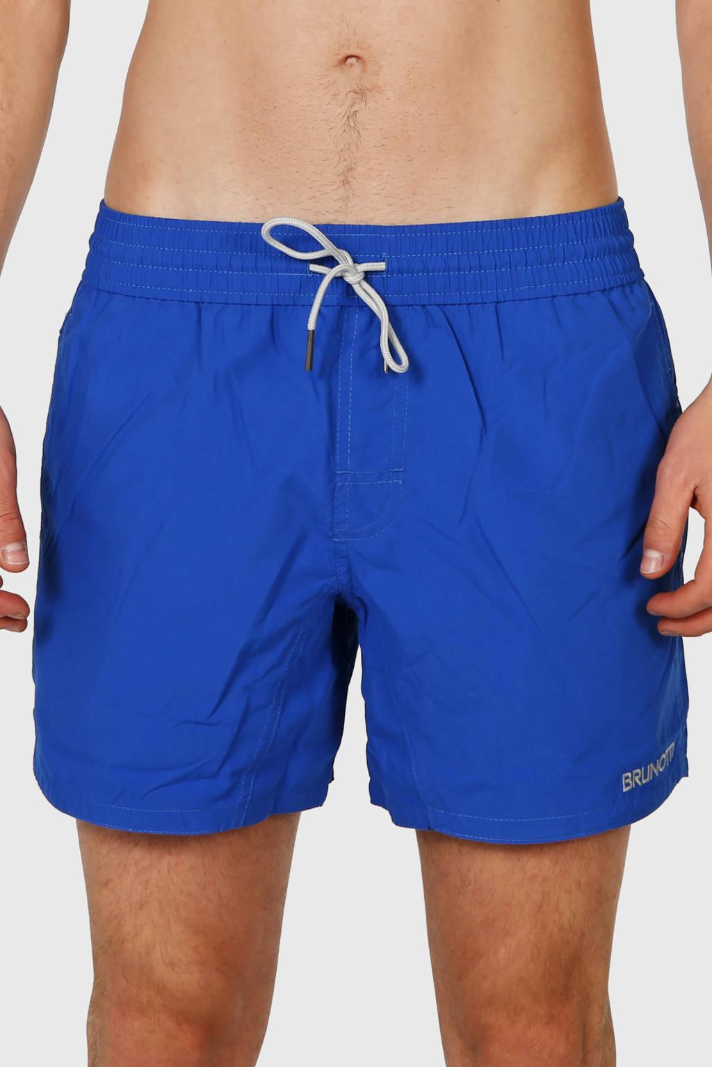 Brunotti zwemshort quick dry uni blauw, Blauw