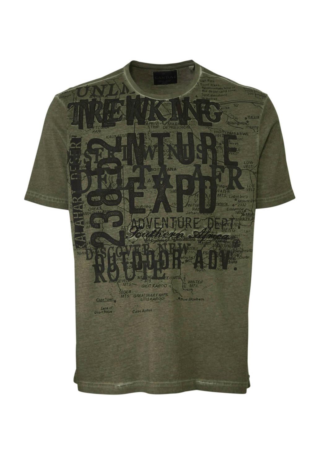 C&A XL Canda T-shirt met printopdruk, Donkergroen