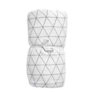 Triangle hydrofiele swaddle XL wit/grijs