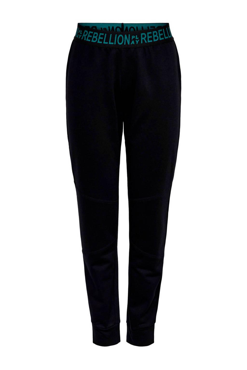 ONLY PLAY regular fit joggingbroek zwart, Zwart