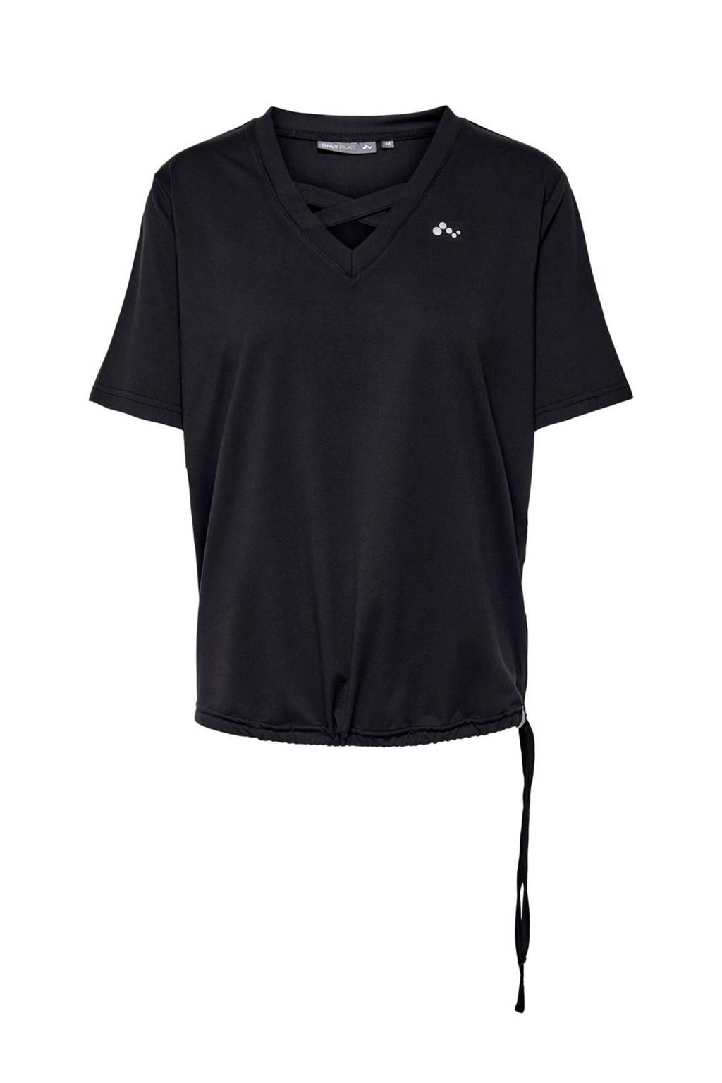 ONLY PLAY sport T-shirt, Zwart