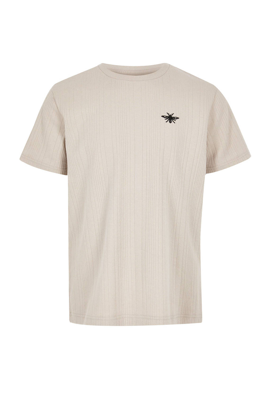 River Island T-shirt met borduursels ecru, Ecru