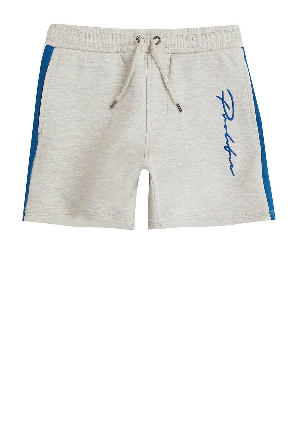 River Island sweatshort met zijstreep grijs/blauw, Grijs/blauw