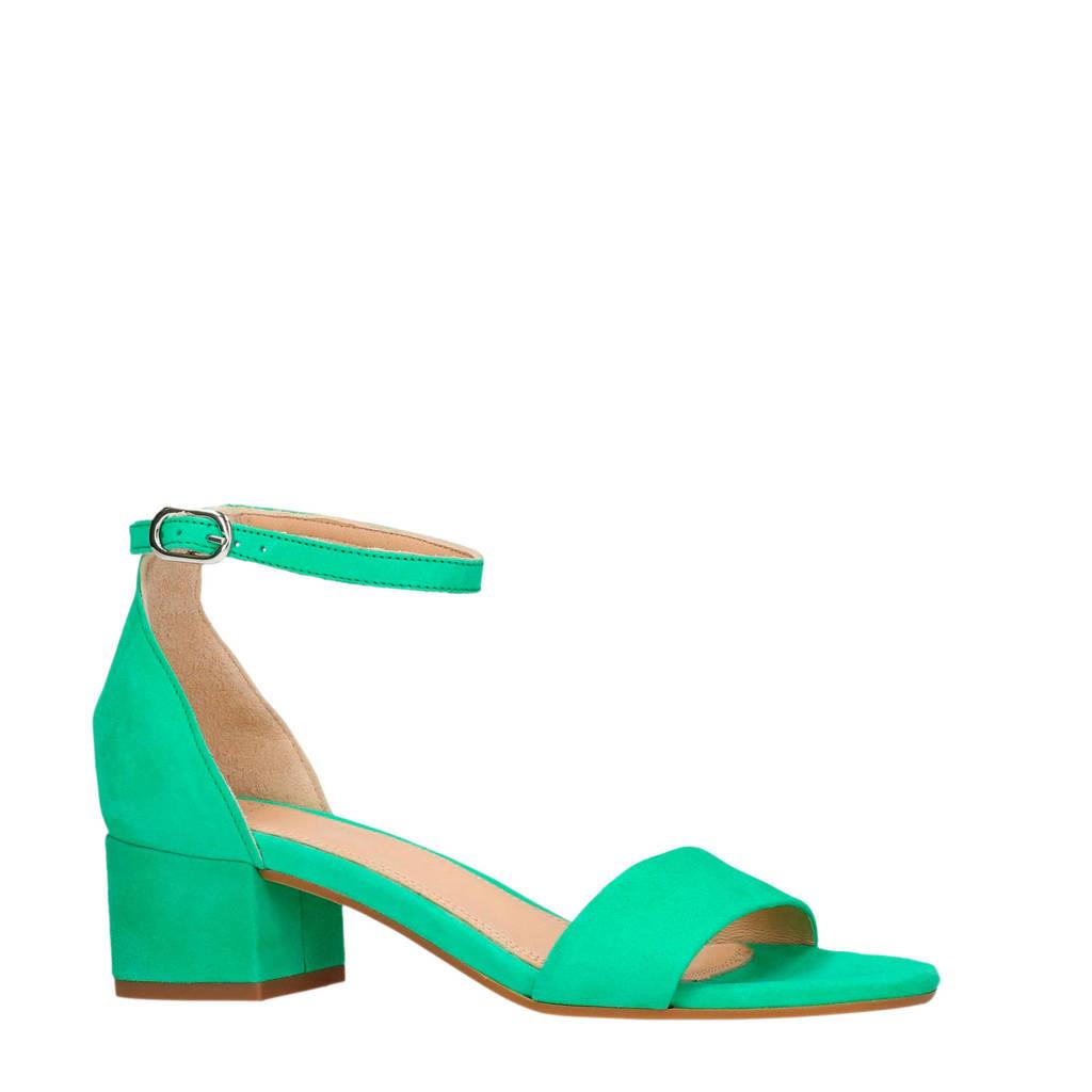 Manfield suède sandalettes groen, Groen