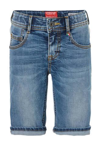 slim fit jeans bermuda Cemilio met zijstreep